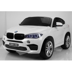 BMW X6M 2 SEATS 12V WHITE PAINTING