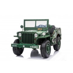 JEEP WILLYS 4X4 12V GREEN LICENSE